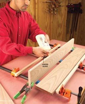 Apply wood glue