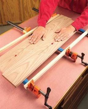 Slide the boards together