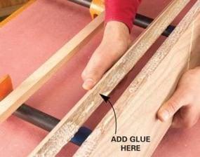 Check the glue coverage