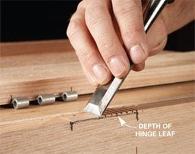 Chisel the mortise