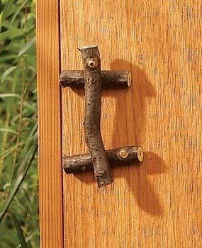 Tree branch door handles