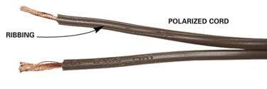 Polarized cord