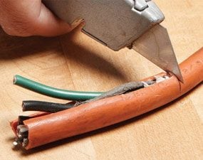 extension cord repair the family handyman rh familyhandyman com wiring extension cord end wiring extension cord to light fixture