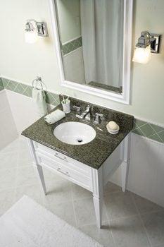 Bathroom with granite vanity top
