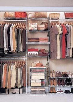 well-organized closet