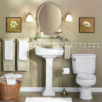 Handsome-looking bathroom sink area