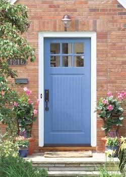 Freshly-painted front door