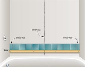 avoid skinny tiles - Bathroom Tile Installation