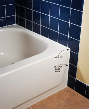 Extend Tile Beyond Tub Edge