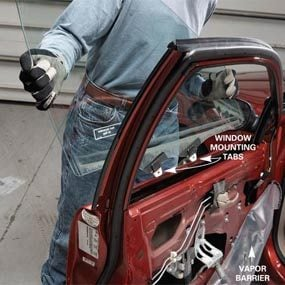 Car window repair: remove the window
