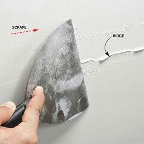 Scraping a ridge
