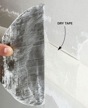 A sign of dry tape