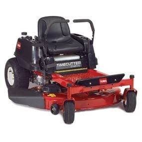 Riding mower with the engine in back