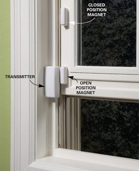 Two magnets on window do it yourself alarm system