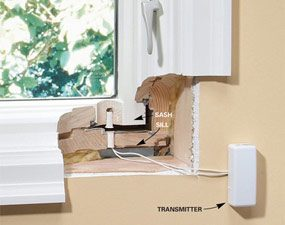 Magnets recessed into window do it yourself security system
