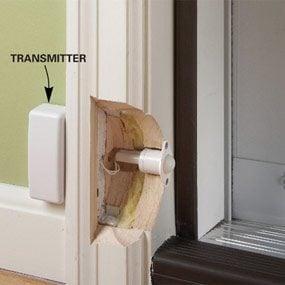 Contact recessed into door jamb