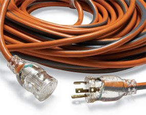 A twist-lock extension cord