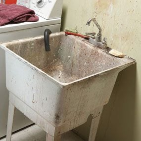 Grungy old sink