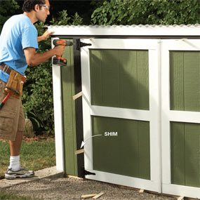 outdoor storage locker the family handyman