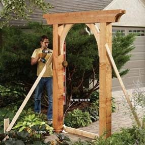 Build a garden arch family handyman for Timber garden arch designs