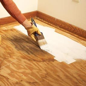 Seal stains with stain-blocking primer.