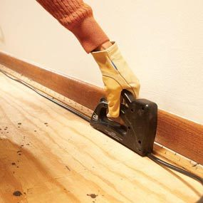 removing old carpet the family handyman. Black Bedroom Furniture Sets. Home Design Ideas