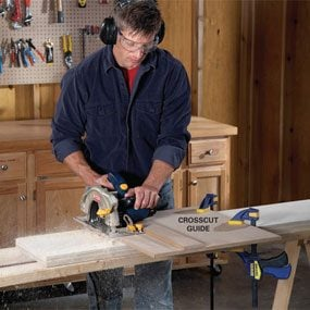 Photo 1: Sawing with a guide