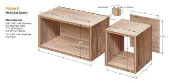 Box shelf dimensions