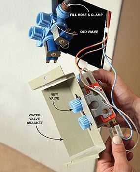 Washing machine: Replace the water valve