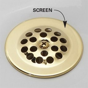 bathroom sink drain screen how to unclog a shower drain without chemicals the 16482