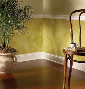 Wainscot looking like mossy tiles