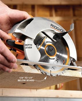 Circular saw tips and techniques the family handyman circular saw tips and techniques greentooth Image collections