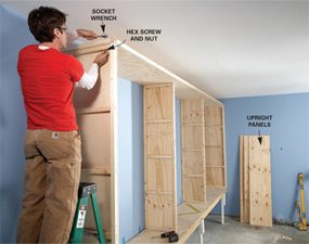 how to build simple garage cabinets