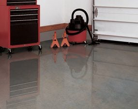 Concrete sealers come in clear and tinted versions.