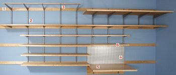 Flexible storage garage shelf brackets
