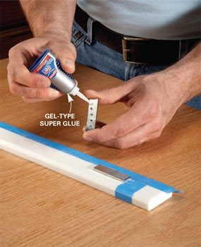 Photo 1: Glue the magnets