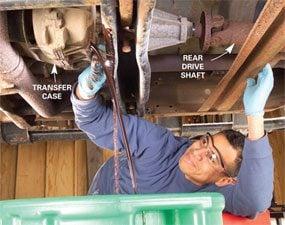 Photo 1: Drain the oil