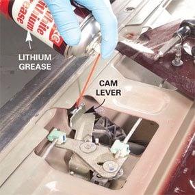 Photo 1: Spray lithium grease