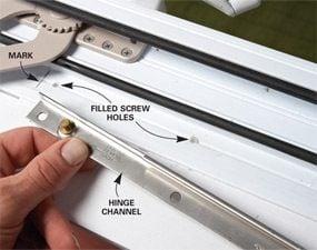 Photo 3: Drill new holes