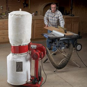 A dust collector increases efficiency