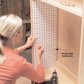 Peg-type supports dress up plain shelves