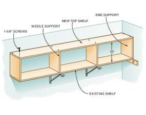 Add a high closet shelf