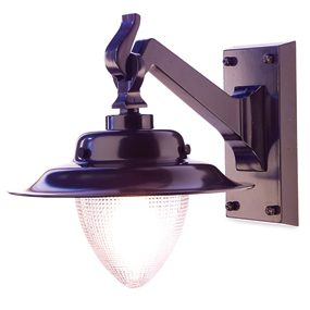 Install a fixture rated for exterior use