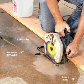Renew Your Concrete Patio How To Stain Concrete The