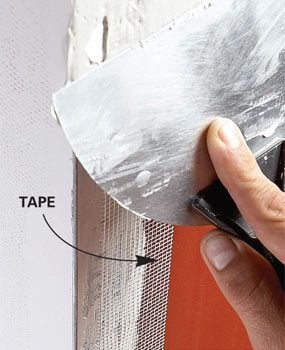 Photo 2: Apply tape and compound
