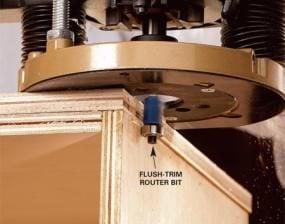 Photo 4: Trim the edges flush