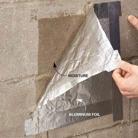 Photo 1: Aluminum foil test