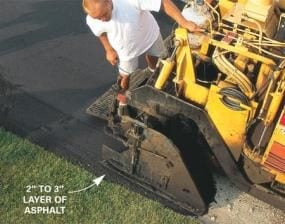 Know the recommended asphalt depth for your area.