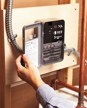 Photo 1: Water heater timer