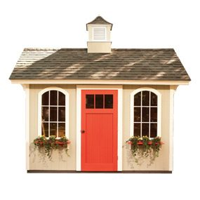 This shed is designed to be budget friendly.